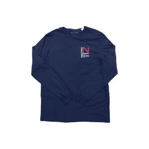 ノーティカ NS83 セーリング ロゴ ロングスリーブ Tシャツ ネイビー ロンT / NAUTICA NS83 SAILING LOGO L/S TEE [NAVY]|breaks-general-store