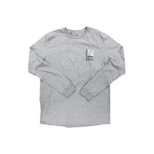 ノーティカ NS83 セーリング ロゴ ロングスリーブ Tシャツ グレー ロンT / NAUTICA NS83 SAILING LOGO L/S TEE [GRAY]|breaks-general-store