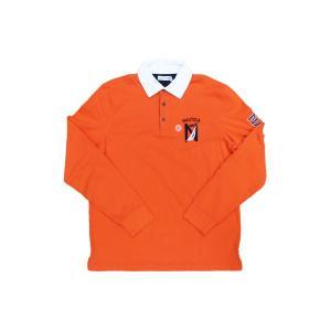 ノーティカ クラシック フィット ロング スリーブ ポロ シャツ オレンジ ラガーシャツ ロンT / NAUTICA CLASSIC FIT L/S LOGO POLO SHIRT [ORANGE]|breaks-general-store