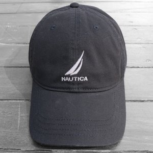 ノーティカ ロゴ  ベースボール キャップ ブラック / NAUTICA LOGO BASEBALL CAP [BLACK]|breaks-general-store