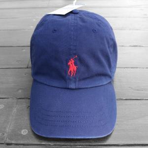 ポロ ラルフローレン ベースボール キャップ BB ネイビー レッド 帽子 / POLO RALPH LAUREN BASEBALL CAP [NAVY/RED] breaks-general-store