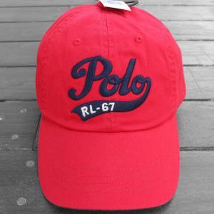 ポロ ラルフローレン RL-67 ベースボール キャップ レッド / POLO RALPH LAUREN RL-67 BASEBALL CAP [RED] breaks-general-store
