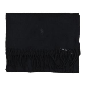 ポロ ラルフローレン カシミア カシミヤ マフラー プレーン / POLO RALPH LAUREN CASHMERE MUFFLER [BLACK]|breaks-general-store