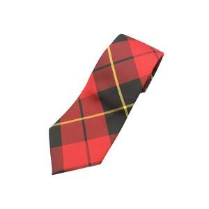 ポロ ラルフローレン タータン チェック ネクタイ イタリア製 / POLO RALPH LAUREN TARTAN CHECK TIE WALLACE RED MODERN|breaks-general-store