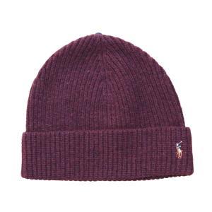 ポロ ラルフローレン ベーシック ビーニー バーガンディー ニット帽 帽子 / POLO RALPH LAUREN BASIC BEANIE [BURGUNDY] breaks-general-store