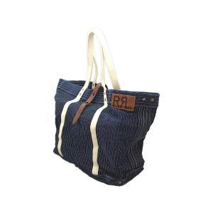 ダブルアールエル ウォバッシュ ストライプ プリント トート バッグ カバン / RRL WABASH STRIPE PRINT TOTE BAG|breaks-general-store