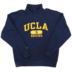 ジャンスポーツ X UCLA ブルインズ ハーフ ジップ スウェット シャツ ネイビー / JANSPORT X UCLA BRUINS HALF ZIP SWEATSHIRT [NAVY]|breaks-general-store