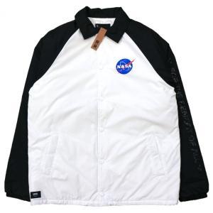 バンズ X ナサ トーレイ パダッド MTE コーチ ジャケット /  VANS X NASA TORREY PADDED MTE COACH JACKET [WHITE/BLACK]|breaks-general-store