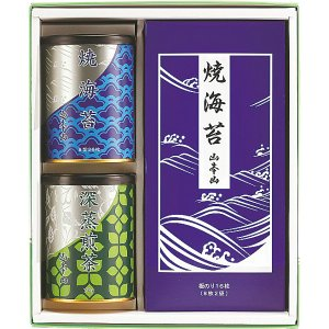 山本山 海苔・銘茶詰合せ YNT-403 内祝い お返し 引出物 結婚 出産 快気祝い 香典返し|breezebox