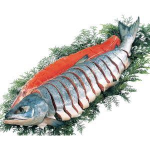 北海道雄武産天然新巻鮭姿造り切り身 お歳暮 お返し 冬ギフト 送料無料 breezebox