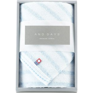 特価 包装・のし無料*今治 アンドデイズ AND DAYS フェイスタオル ブルー D-72102|breezebox