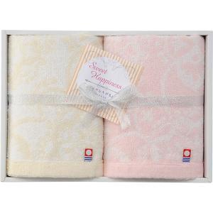 包装・のし無料*今治製タオル スウィートハピネス ハンドタオル2P SH-1810 (お返し 結婚 出産 快気 法事 香典返し) breezebox