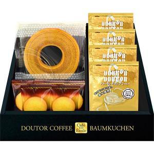 包装・のし無料*Cafe Etoile ドトールコーヒー&バウムクーヘンセット HKDB-15 (お返し 結婚 出産 快気 法事 香典返し)|breezebox
