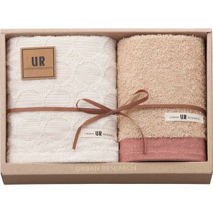 包装・のし無料*アーバンリサーチ フェイスタオル&ウォッシュタオル レッド UR2115 (お返し 結婚 出産 快気 法事 香典返し) breezebox