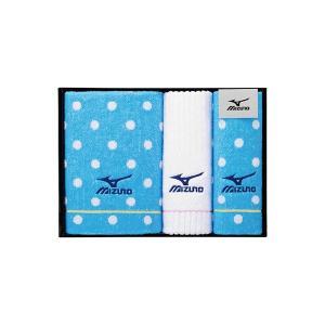 包装・のし無料*ミズノ GI-4 スポーツタオル&フェイスタオル2P MZ300500 (お返し 結婚 出産 快気 法事 香典返し)|breezebox