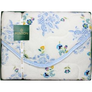包装・のし無料*ミントン ボア敷きパッド ブルー MNCP40401BL (お返し 結婚 出産 快気 法事 香典返し) breezebox