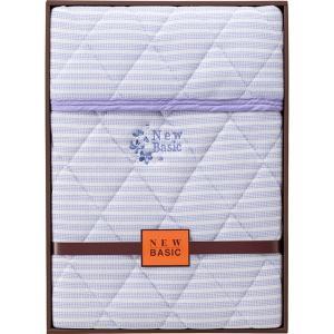 包装・のし無料*ニューベーシック ニットワッフル敷パット ブルー RNB-4041 (お返し 結婚 出産 快気 法事 香典返し) breezebox