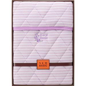 包装・のし無料*ニューベーシック ニットワッフル敷パット パープル RNB-4041 (お返し 結婚 出産 快気 法事 香典返し) breezebox