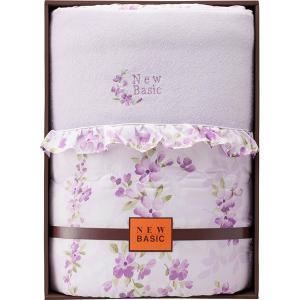 包装・のし無料*ニューベーシック シルク混肌掛けふとん パープル RNB-4050 (お返し 結婚 出産 快気 法事 香典返し) breezebox