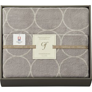 包装・のし無料*グランフランセ ヌーベル 今治製タオルケット グレージュ GFN41500 (お返し 結婚 出産 快気 法事 香典返し) breezebox
