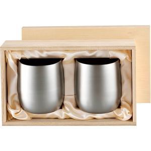 包装・のし無料*食楽工房 霞 チタン2重ロックカップ250mlペアセット(木箱入) TW-4 (お返し 結婚 出産 快気 法事 香典返し) breezebox