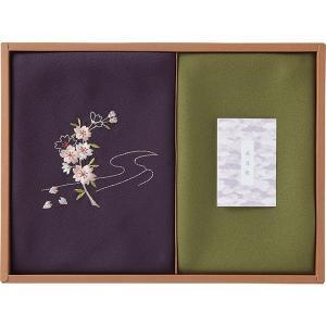 草花の遊び 刺繍入り二巾風呂敷&金封包み 赤 250-14  内祝い ギフト 出産 結婚 快気 法事|breezebox