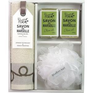 サヴォンドマルセイユ タオル&ソープセット TSM2503412  内祝い ギフト 出産 結婚 快気 法事|breezebox