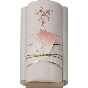 王華 桜刺しゅうパイル肌布団(木箱入) ピンク OK1706  内祝い ギフト 出産 結婚 快気 法事 breezebox