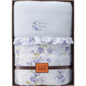 ニューベーシック シルク混肌掛けふとん ブルー RNB-4050  内祝い ギフト 出産 結婚 快気 法事 breezebox