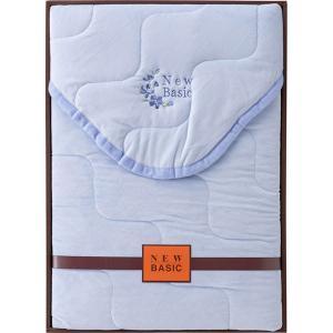 ニューベーシック ふわとろパウダータッチ敷パット ブルー RNB-4051B  内祝い ギフト 出産 結婚 快気 法事 breezebox