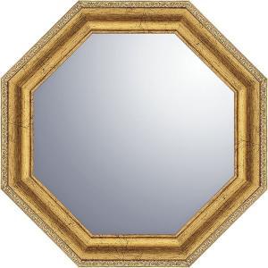 ヴィンテージ八角ミラー19.5cm ゴールド VM-02005  内祝い ギフト 出産 結婚 快気 法事|breezebox