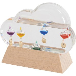 ガラスフロート温度計 クラウド 333-211  内祝い ギフト 出産 結婚 快気 法事|breezebox