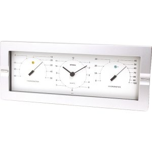 エンペックス セレニティ温度計・時計・湿度計 MN-4840  内祝い ギフト 出産 結婚 快気 法事|breezebox