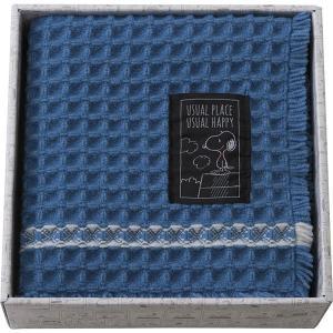 スヌーピー ユージュアル バスマットギフト ブルー 91274  内祝い ギフト 出産 結婚 快気 法事|breezebox