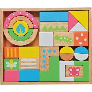 内容 * 木箱(32×27×6cm)×1、積木パーツ×28 材質 * ゴムの木、ポプラ、MDF 箱サ...