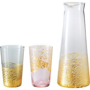 包装・のし無料*江戸硝子 金玻璃 酒器セット G641-H104 (お返し 祝い 結婚 出産 快気 法事 香典返し) breezebox