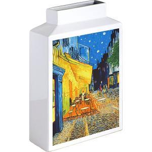 包装・のし無料*ミュージアムアートフラワーベース ゴッホ 夜のカフェテラス MV-04001 (お返し 祝い 結婚 出産 快気 法事 香典返し) breezebox