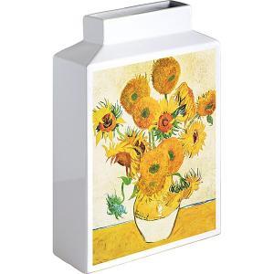 包装・のし無料*ミュージアムアートフラワーベース ゴッホ ひまわり MV-05001 (お返し 祝い 結婚 出産 快気 法事 香典返し) breezebox