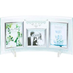 包装・のし無料*ジュエリーチャームガラスフォトフレーム3W GF-03051 (お返し 祝い 結婚 出産 快気 法事 香典返し) breezebox