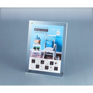包装・のし無料*シンプルアクリルフレーム A4サイズ SF-02541 (お返し 祝い 結婚 出産 快気 法事 香典返し) breezebox