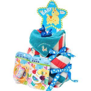 包装・のし無料*ロディ おむつケーキ ブルー ROC-100B (お返し 祝い 結婚 出産 快気 法事 香典返し)|breezebox