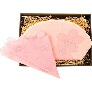 包装・のし無料*YUMEZAIKU 桜染 ポーチ・綿レースハンカチ(小)セット 73891 (お返し 祝い 結婚 出産 快気 法事 香典返し)|breezebox