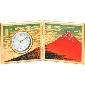 包装・のし無料*屏風時計 金箔 赤富士 16851 (お返し 祝い 結婚 出産 快気 法事 香典返し)|breezebox