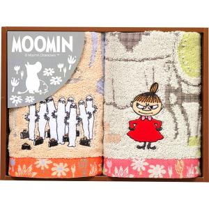 包装・のし無料*ムーミン ムーミン谷の日々 ウォッシュタオル2P MM-9112 (お返し 祝い 結婚 出産 快気 法事 香典返し) breezebox