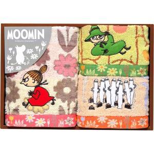 包装・のし無料*ムーミン ムーミン谷の日々 フェイスタオル&ウォッシュタオル2P MM-9122 (お返し 祝い 結婚 出産 快気 法事 香典返し) breezebox
