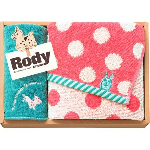 包装・のし無料*ロディ フェイスタオル&タオルハンカチ ピンク RD-15 PI (お返し 祝い 結婚 出産 快気 法事 香典返し)|breezebox