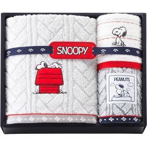 包装・のし無料*スヌーピー バスタオル&ウォッシュタオル2P 2276-11654 (お返し 祝い 結婚 出産 快気 法事 香典返し)|breezebox