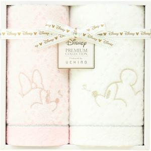 包装・のし無料*プレミアム ディズニー ホワイトハピネス フェイスタオル&ゲストタオル WR20694M (お返し 祝い 結婚 出産 快気 法事 香典返し)|breezebox