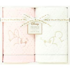 包装・のし無料*プレミアム ディズニー ホワイトハピネス フェイスタオル2P WF25694M (お返し 祝い 結婚 出産 快気 法事 香典返し)|breezebox