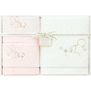 包装・のし無料*プレミアム ディズニー ホワイトハピネス タオルセット WR50694M (お返し 祝い 結婚 出産 快気 法事 香典返し)|breezebox